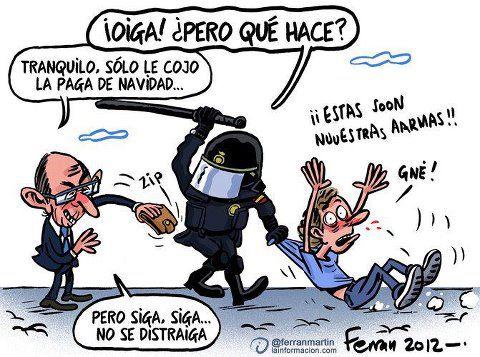 Politician robbing a Policeman